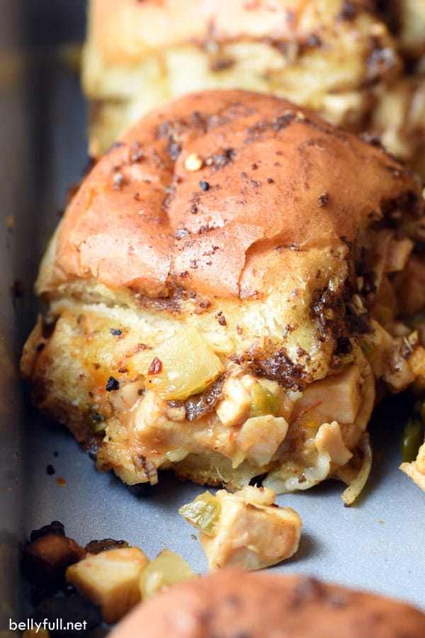 Sweet & Spicy Chicken Sliders by Belly Full (Easy Dinner Idea Using Leftover Chicken)