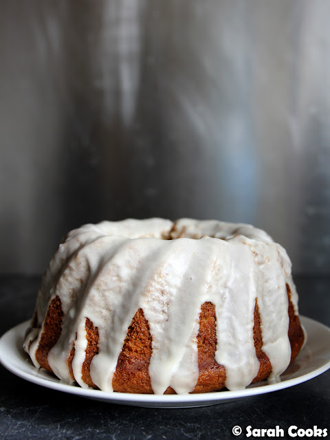 Banana Bundt Cake with Sour Cream Glaze