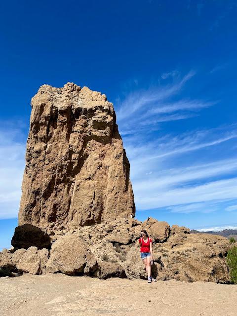 Posing beside the Roque Nublo, Gran Canaria, Spain