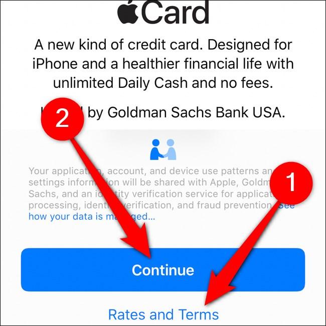 iPhone Wallet شروط بطاقة قراءة Apple