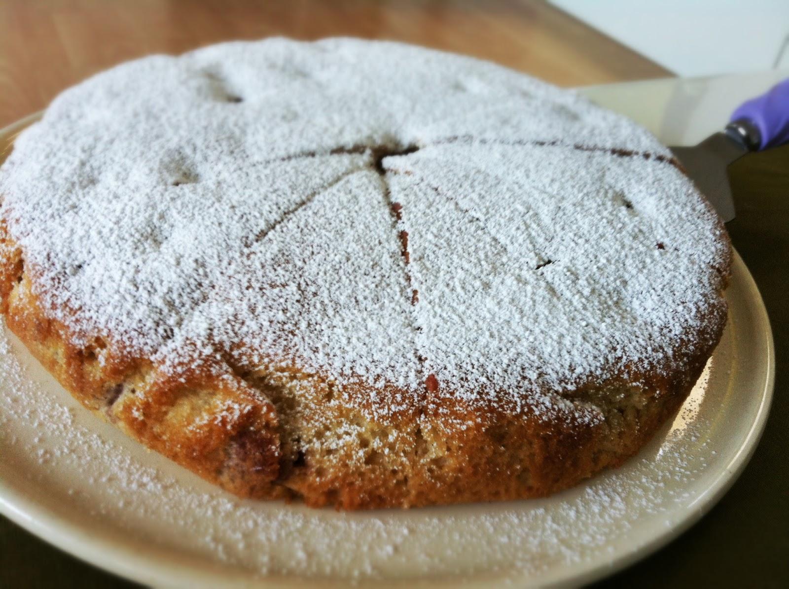 Vegan Kochen Und Geniessen Schneller Vanille Kirsch Kuchen