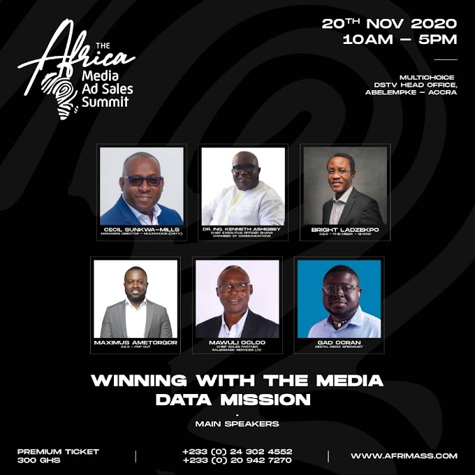 Ken Ashigbey, Sunkwa-Mills, others for 2nd Africa Media Ad Sales Summit (AFRIMASS2020)