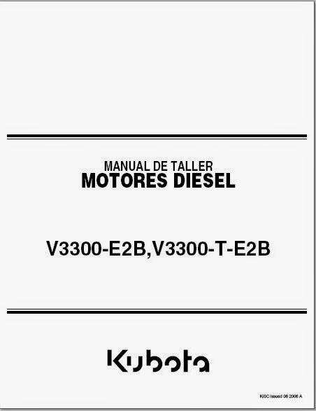MANUALES DE MAQUINARIA PESADA: MANUAL KUBOTA V3300.