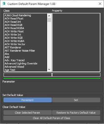 Custom Default Parameter 3ds max