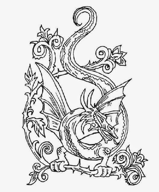 Dragon coloring sheets free coloring sheet for Elaborate coloring pages