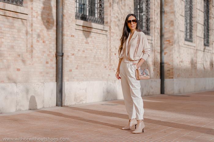 Streetstyle tendencias colores de nueva temporada outfit blanco y botines maquillaje AGL