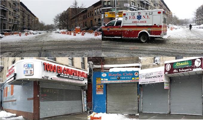 Tormenta obliga a cierre de negocios y reducción del tránsito en el Alto Manhattan