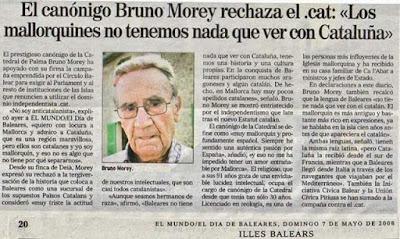 Bruno Morey rechaza .cat, mallorquines no tenemos nada que ver con Cataluña