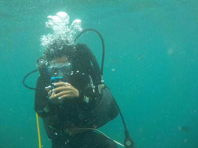 チャム島でスキューバーダイビング