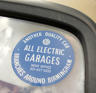 All Electric Garages round sticker