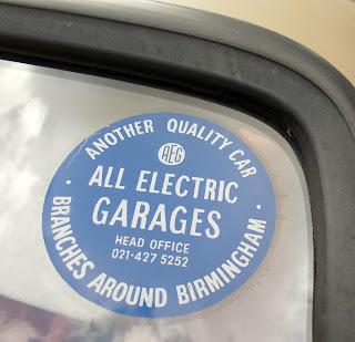 All Electric Garages round sticker