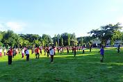 Jalin Soliditas dan Sinergitas, TNI Polri di Sumbawa Gelar Olah Raga Bersama