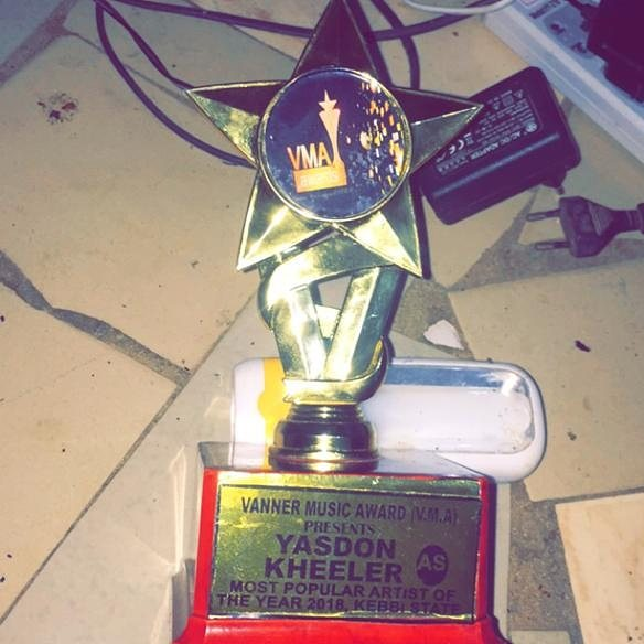 Yasdon Kheeler Awarded As VMA Most Popular Artist Of the year (2018)