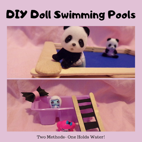 How to Make DIY Doll Swimming Pool -2 Methods/Designs- One Holds Water!