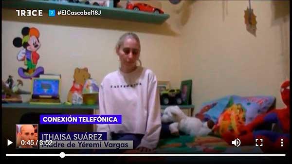 Vídeo de Ithaisa Suarez, dando por fallecido a  su hijo Yéremi Vargas