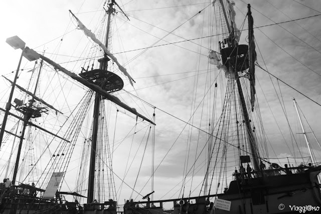 Vista della replica della fregata Etoile du Roi