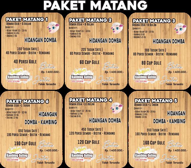 Paket Matang Aqiqah
