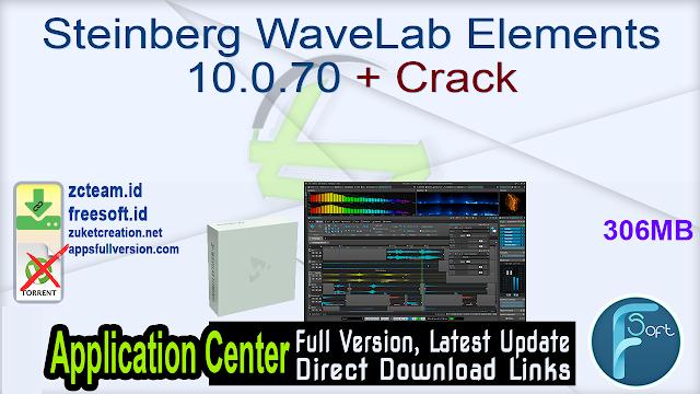 Steinberg WaveLab Elements 10.0.70 + Crack_ ZcTeam.id