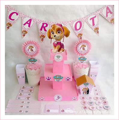 Kit cumpleaños Skye Patrulla Canina