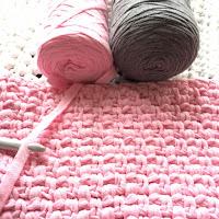 granietsteek, weefsteek, haken, haaksteek, kussenhoes, roze, ribbon