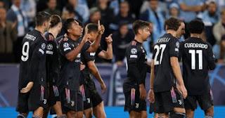 """انتصر فريق يوفنتوس الإيطالي على مالمو السويدي 3-0 على ملعب """"مالمو"""" الليلة (الثلاثاء) وحقق فوزًا ثمينًا"""