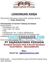 Lowongan Kerja Surabaya Terbaru di PT. Rajagrafindo Persada Desember 2019