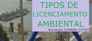 Tipos de licenciamento ambiental