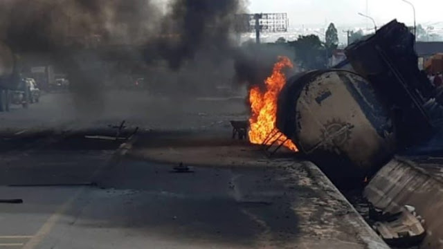 Petrol tanker crash: Sagamu Interchange Bridge closed temporarily -FRSC