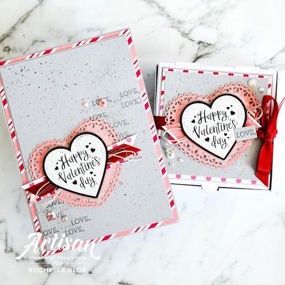 cartes avec La collection Du fond du coeur Stampin' Up! mini catalogue 2020