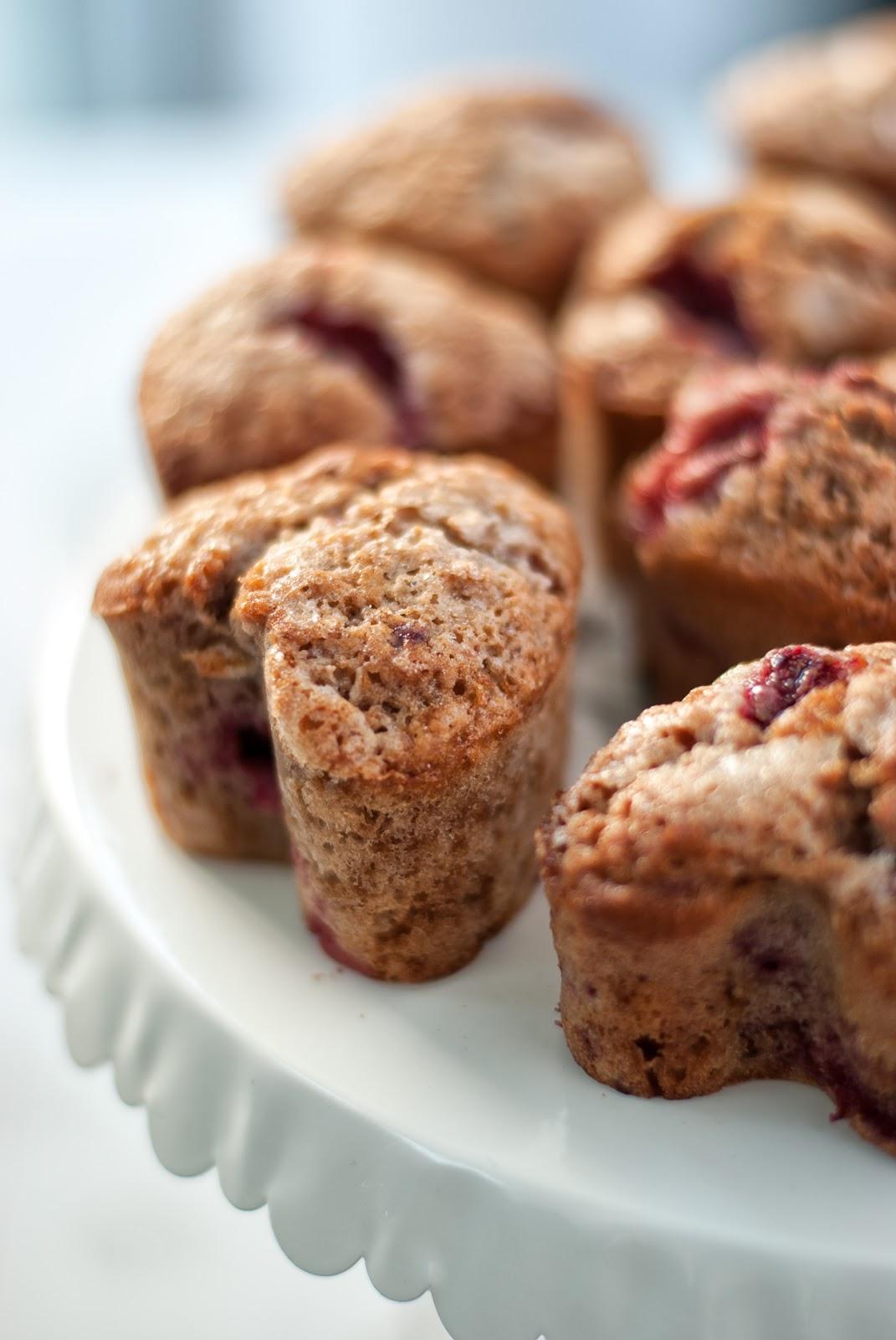 Muffiny truskawkowe z olejem