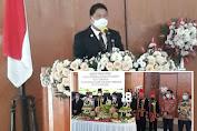 Kumendong Wakili Gubernur di HUT Kota Tomohon