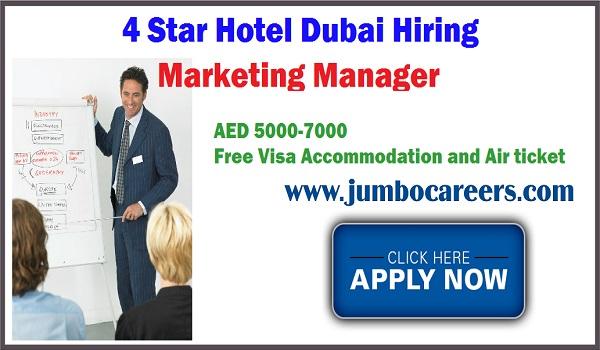 Current 4 star hotel jobs in Sharjah, Available jobs in Sharjah UAE,