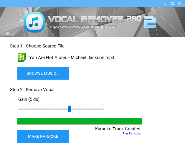 Screenshot Vocal Remover Pro 2.0 Full Version