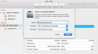 Format Flashdisk di Mac OS X El Capitan