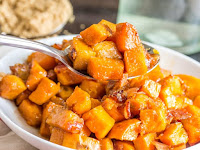 Brown Sugar Bacon Roasted Sweet Potatoes