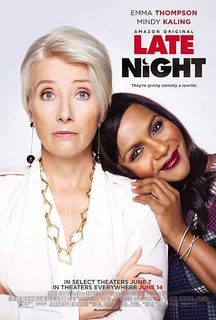 Movie Poster for the Amazon Studios film Late Night starring Emma Thompson and Mindy Kaling
