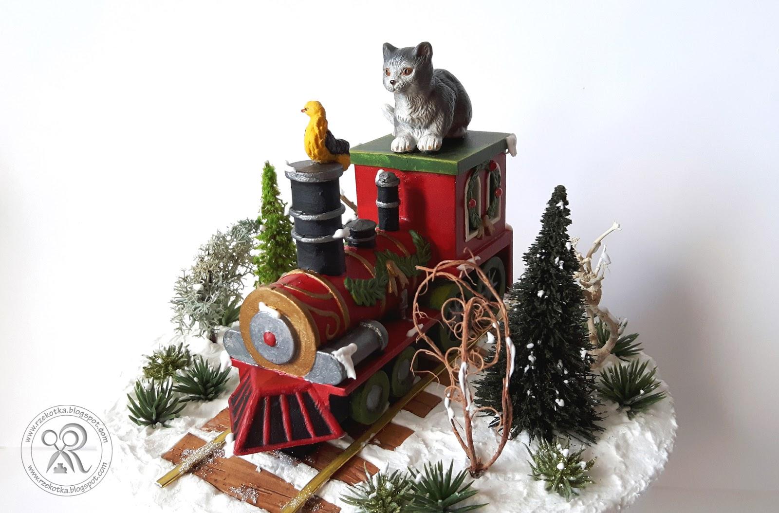 Bombka z lokomotywą