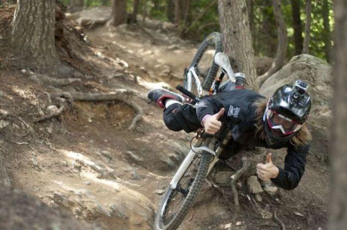 caindo da bicicleta