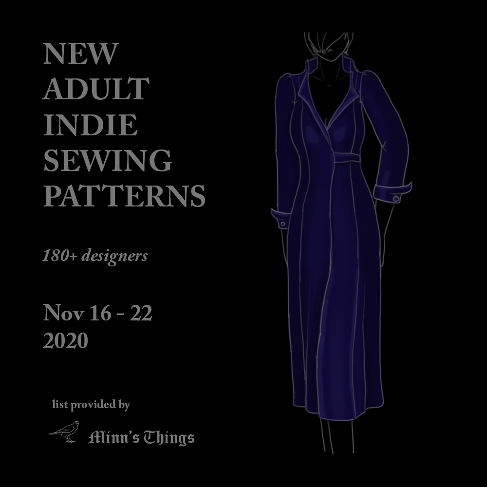 adult indie sewing patterns designers list all new releases updates fresh 2020 november fashion dresses jackets tops cardigans pants trousers