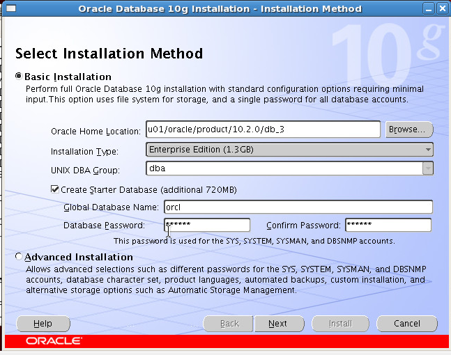 Oracle database 10gR2 installation in RedHat 5 4 - GoLinuxHub