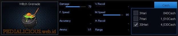 Detail Statistik Witch Grenade