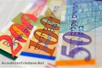 Dinero billetes de Israel