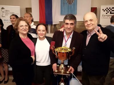 Jaume Anguera y Karen Movsziszian en el Campeonato del Mundo de Ajedrez de Veteranos 2018