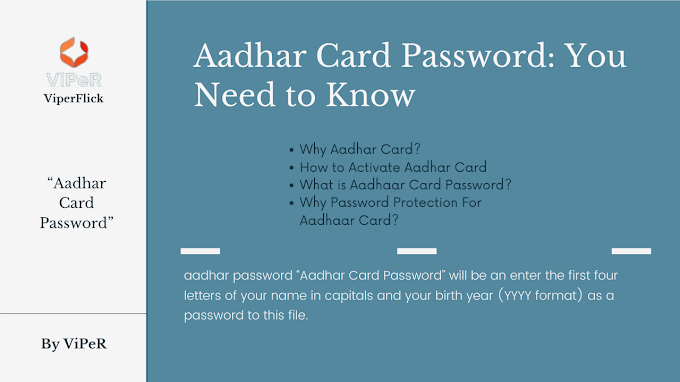 Aadhar Card Password: You Need to Know Aadhar Password