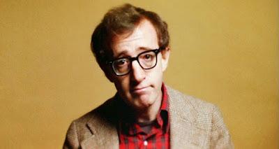 Woody Allen talks to camera in Annie Hall