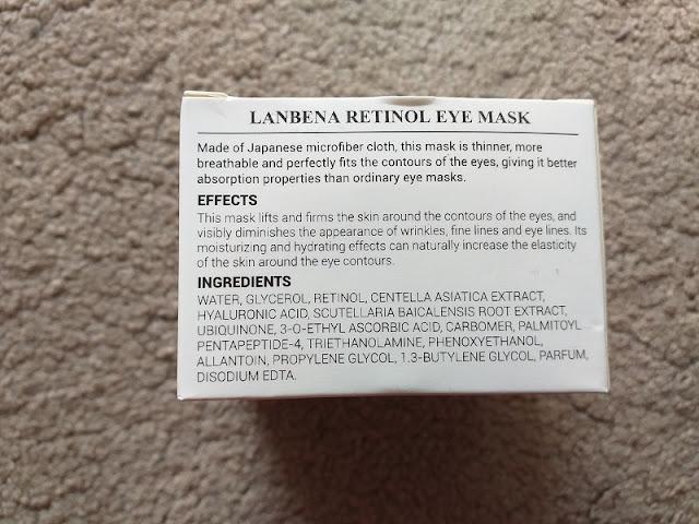 Lanbena, Retinol Eye Mask (płatki z retinolem pod oczy) skład