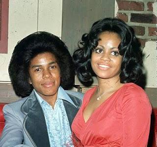 Hazel Gordy with her ex-husband Jermaine Jackson