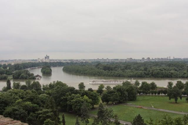 Belgrado. Sava en Donau komen samen