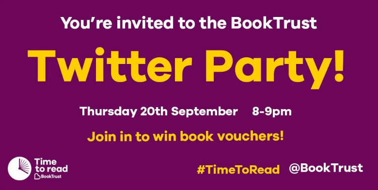 booktrust time to read campaign twitter party