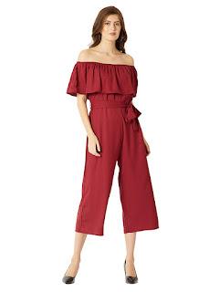 Women's-Strapless-Ruffled-Jump-suit-Dress